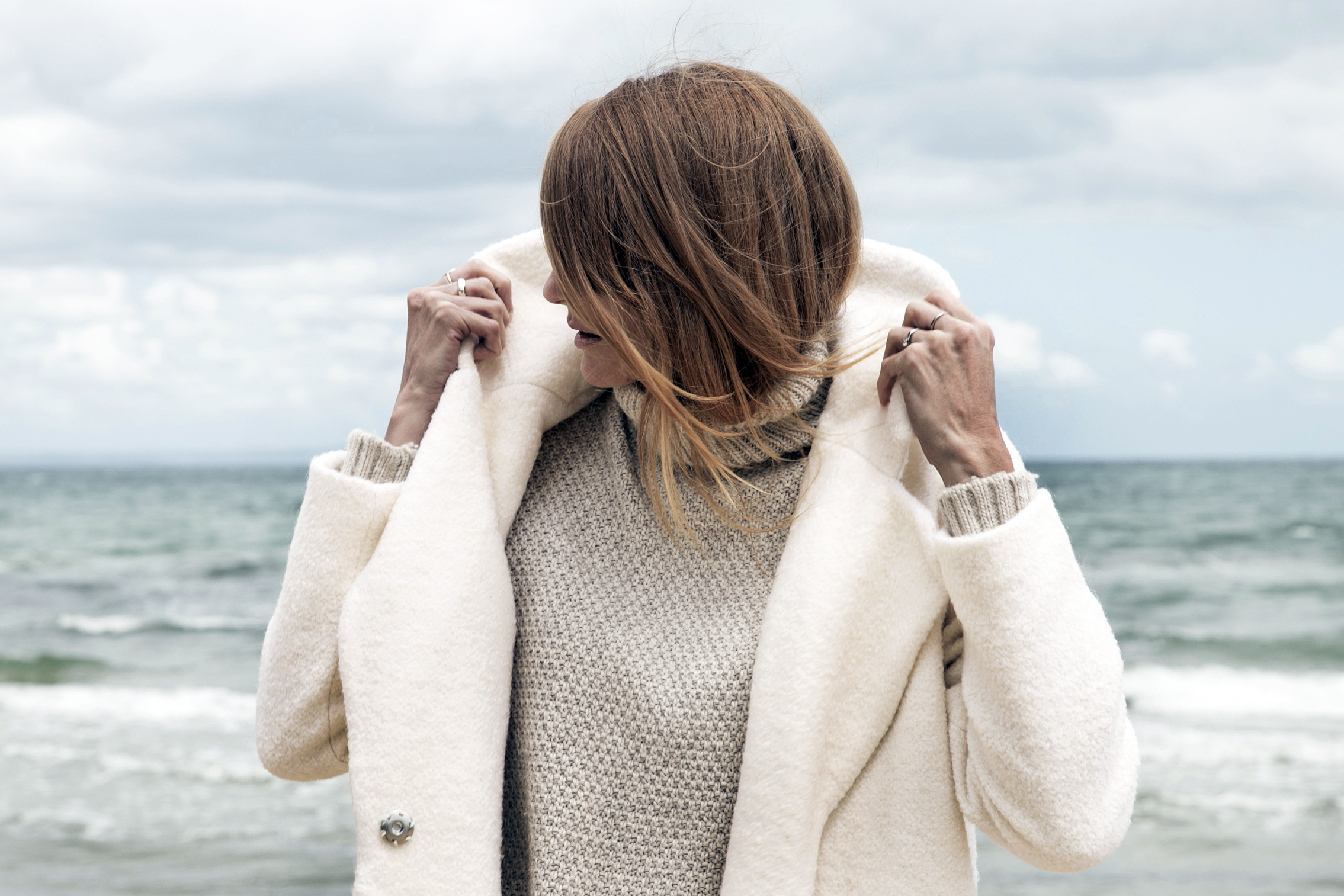 love rush cream coat